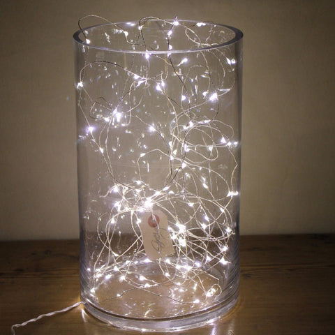 Vase with string fairy Lights