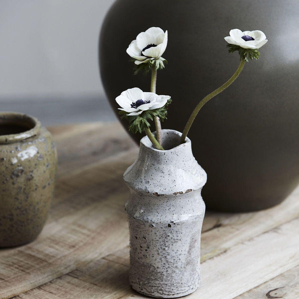 little organic rustic earthenware bud vase