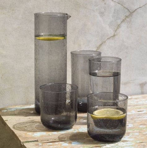 Glass Bubble Tumblers, Hi-Balls & Carafes grey
