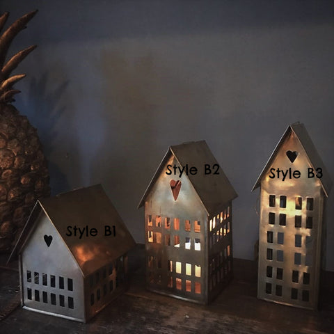 Danish Brass Houses for Tealights from Walther & Co - Greige - Home & Garden - Chiswick, London W4