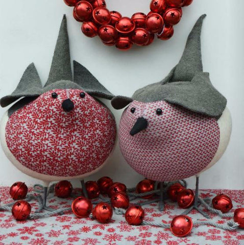 Fabulously Festive Fancy Felt Robins - Greige - Home & Garden - Chiswick, London W4