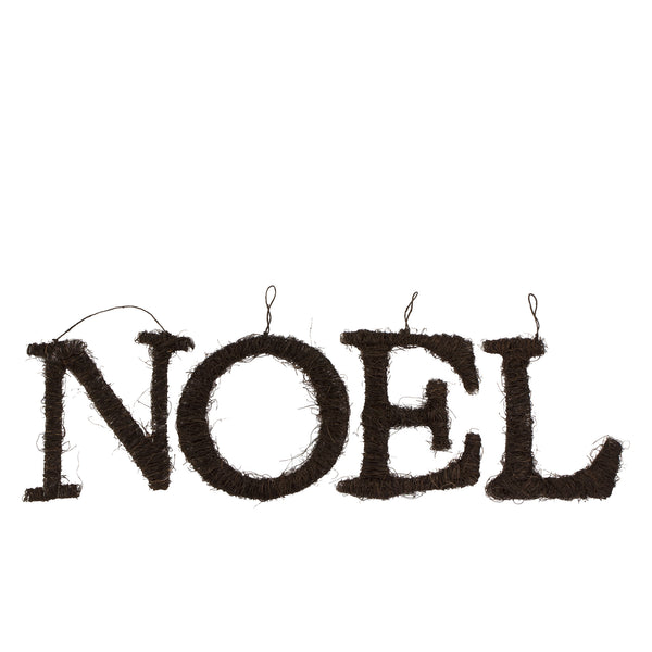 large NOEL wicker rattan letters for Christmas Decoration