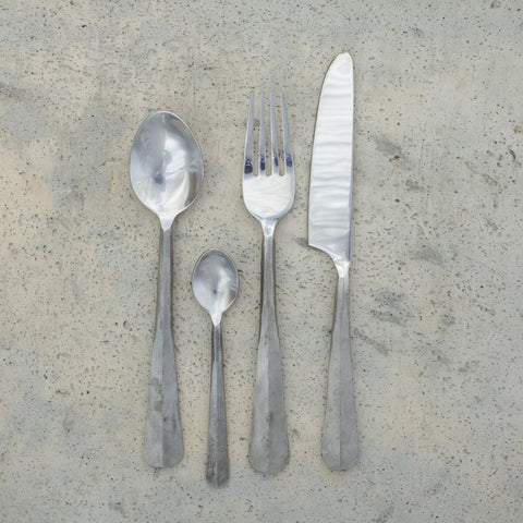 Artisan Cutlery - Hammered Brushed Silver Finish - Greige - Home & Garden - Chiswick, London W4