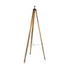 Mango Wood Tripod Floor Lamp with Linen Shade