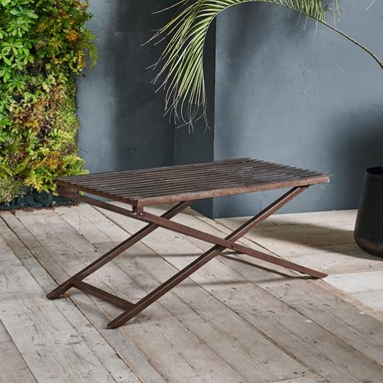 Iron Outdoor Coffee Table - Greige - Home & Garden - Chiswick, London W4