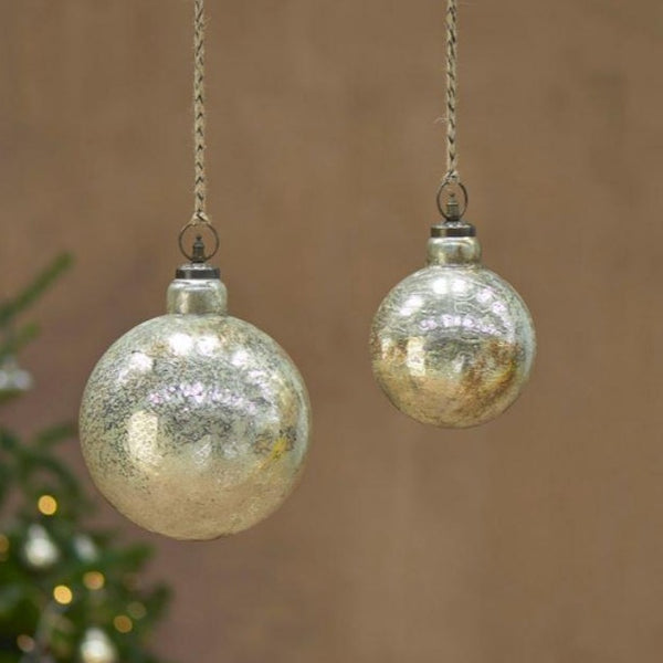 giant rustic gold glass bauble