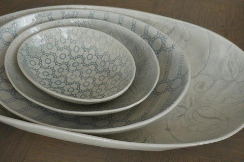 Wonki Ware Oval Bowl - Four Sizes - Greige - Home & Garden - Chiswick, London W4
