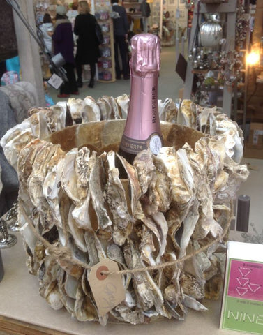 Stunning Oyster Shell Champagne Bucket