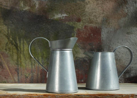 galvanised steel jug pitcher