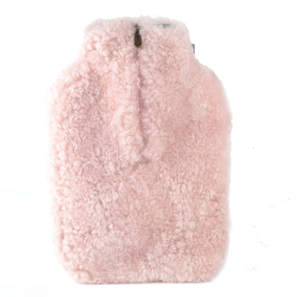 Pink Sheepskin Hot Water Bottle Cover