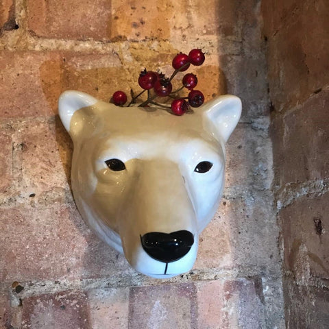 Polar Bear Wall Vase by Quail Ceramics - Greige - Home & Garden - Chiswick, London W4