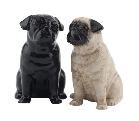 Pug Salt & Pepper Pots by Quail Ceramics