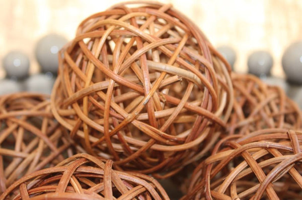 Decorative Rattan Balls - Greige - Home & Garden - Chiswick, London W4