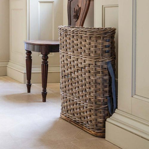 Slim Rattan Umbrella Stand - Greige - Home & Garden - Chiswick, London W4