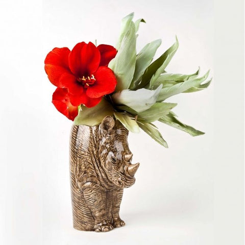 Large Rhino Flower Vase by Quail Ceramics - Greige - Home & Garden - Chiswick, London W4
