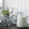 ribbed clear glass jug