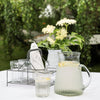 Hand-blown Glass Pitcher with Ribbed Finish - Two Sizes - Greige - Home & Garden - Chiswick, London W4