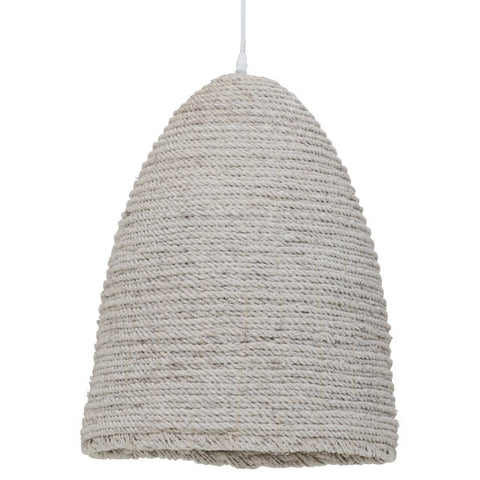 rope ceiling light with white wash finish