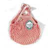 French Cotton String Shopping Market Bag Pink Mini