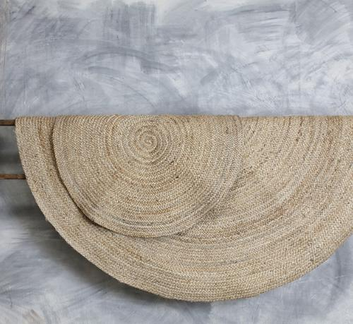 Braided Hemp Rug - Round - Natural - Two Sizes - Greige - Home & Garden - Chiswick, London W4