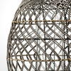 Smokey Grey Rattan Lantern - Two Styles