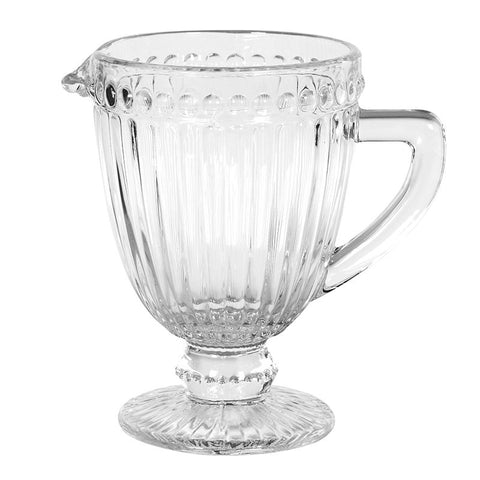 French Style Footed Glass Pitcher