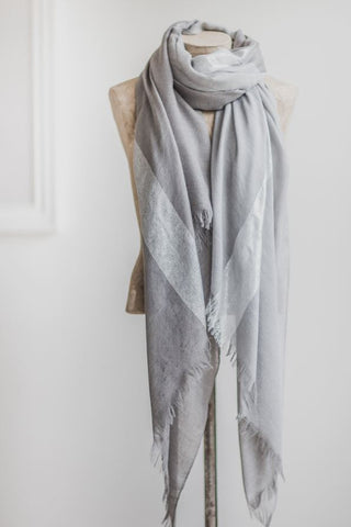 Grey & Silver Tonal Scarf from Tutti & Co - Greige - Home & Garden - Chiswick, London W4