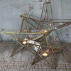 Standing Brass & Glass Star Tealight Holder - Greige - Home & Garden - Chiswick, London W4