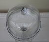 Short Stem Glass Cake Stand & Dome - Greige - Home & Garden - Chiswick, London W4