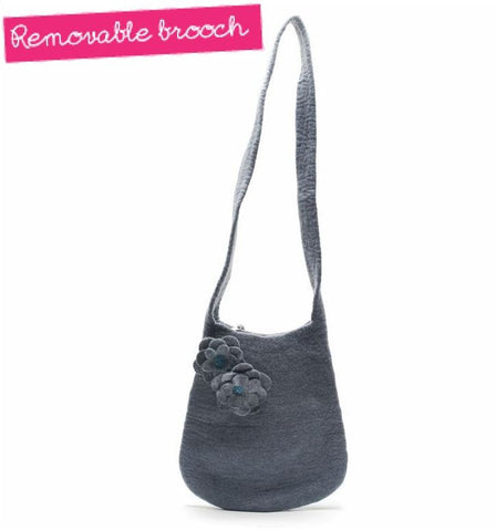 Handmade Felt Bucket Shaped Shoulder Bag