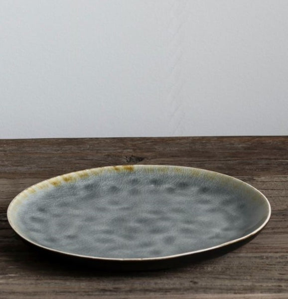 Grey Crackle Stoneware Series - Four Side Plates - Greige - Home & Garden - Chiswick, London W4