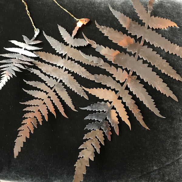 Hanging Silver Fern Decoration from Walther & Co - Greige - Home & Garden - Chiswick, London W4