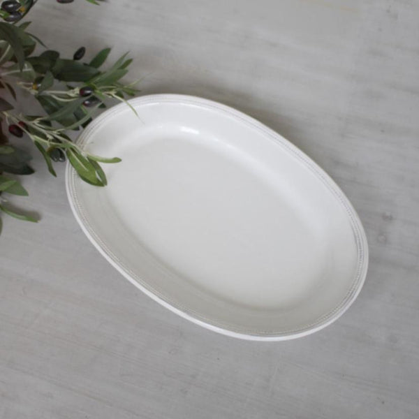 Simple Vintage Style White Serving Platter - Greige - Home & Garden - Chiswick, London W4