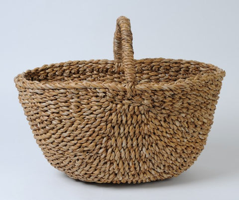 hand woven fairtrade hogla seagrass basket