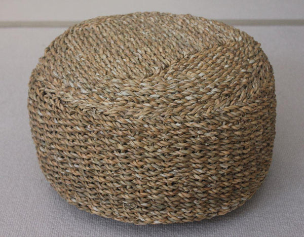 Hogla Small Round Seat or Pouffe or Footstool - Greige - Home & Garden - Chiswick, London W4