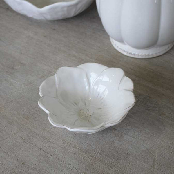 Small White Sunflower Bowl - Greige - Home & Garden - Chiswick, London W4