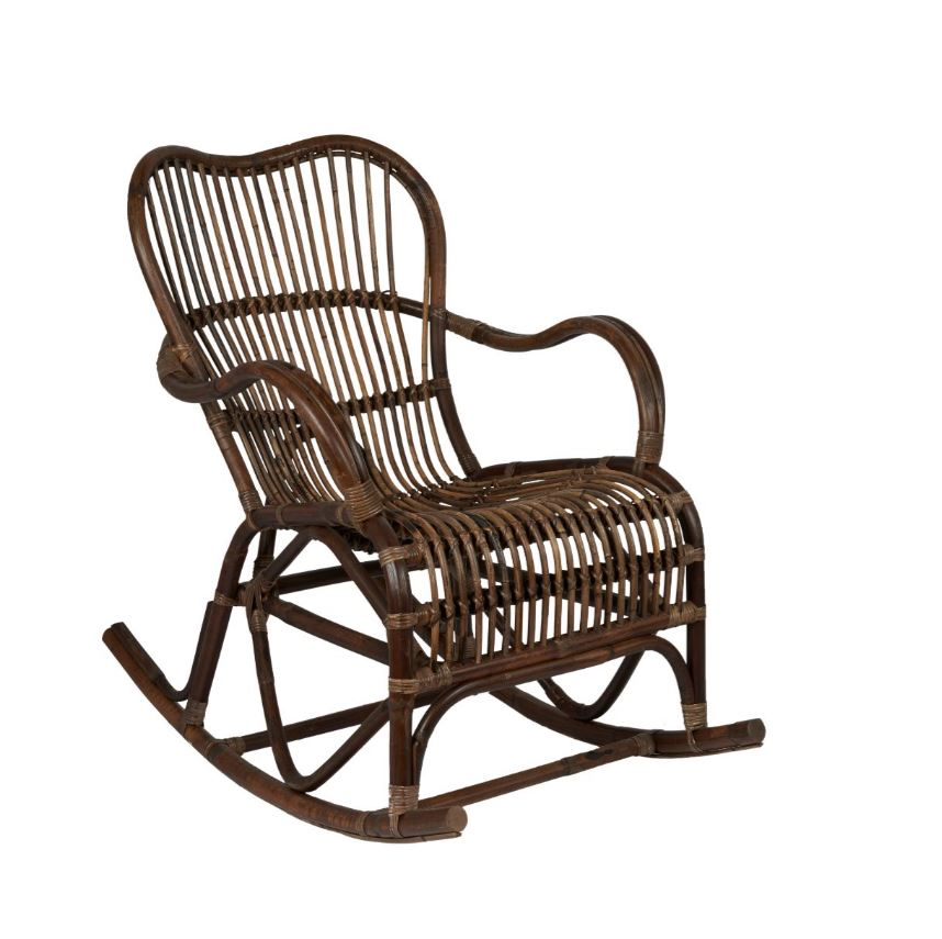 Superieur ... Dark Rattan Rocking Chair From Affari Of Sweden   Greige   Home U0026  Garden   Chiswick