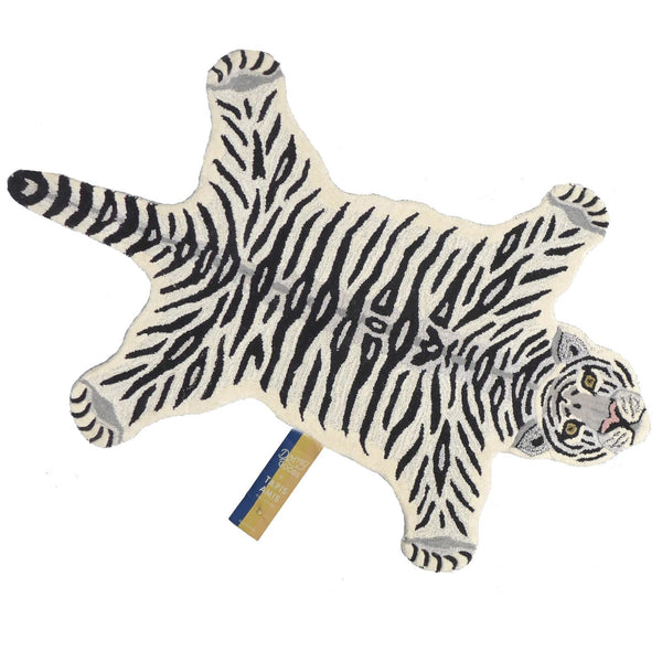 Snowy Tiger Rug - Tapis Amis Collection from Doing Goods - Greige - Home & Garden - Chiswick, London W4