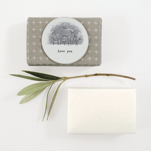 Triple Milled Olive Soap - Wrapped - Love You - Greige - Home & Garden - Chiswick, London W4