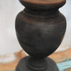 black painted mango wood lamp base