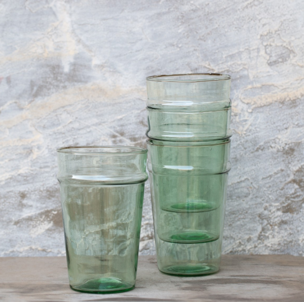 recycled stacking water glasses large