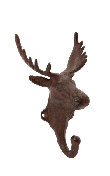 Stag Head Metal Wall Hook - Greige - Home & Garden - Chiswick, London W4