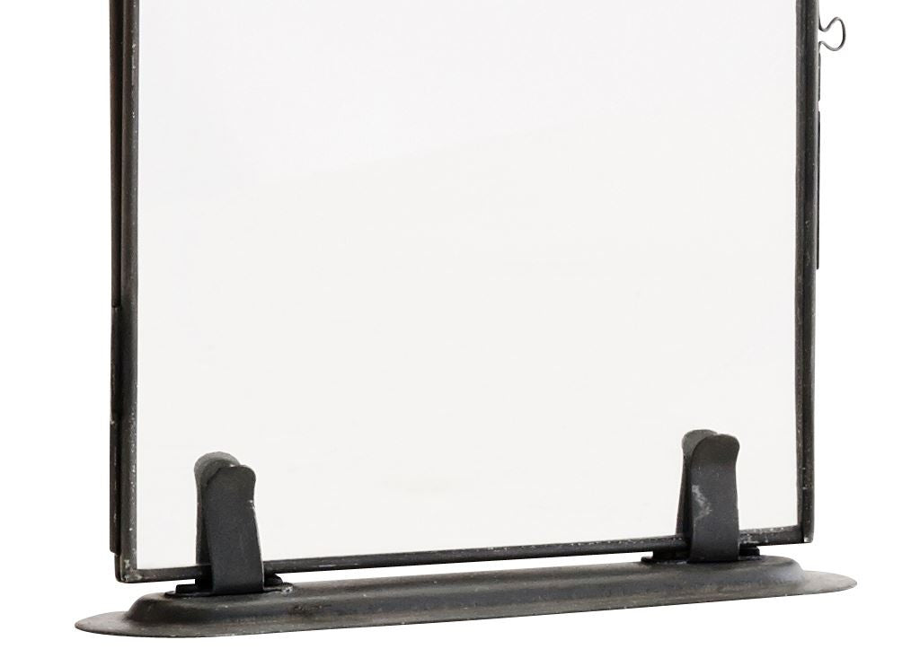 Zinc Edged Glass Frame on Stand