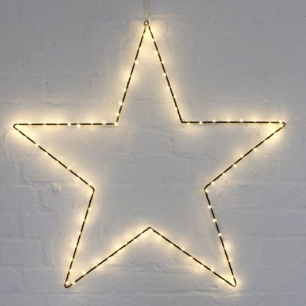 Metal Star LED Light Decoration - Three Sizes - Greige - Home & Garden - Chiswick, London W4