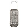 tall rattan lantern in dark grey