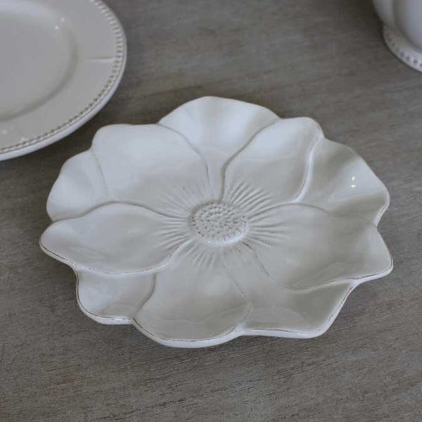White Sunflower Plate - Greige - Home & Garden - Chiswick, London W4