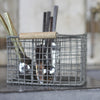 Metal Cutlery Basket - Greige - Home & Garden - Chiswick, London W4
