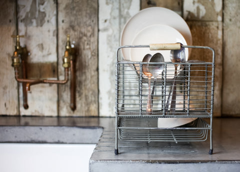 Industrial Style Metal Dish Rack - Greige - Home & Garden - Chiswick, London W4