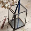 Antiqued Metal and Glass Pen Pot - Greige - Home & Garden - Chiswick, London W4