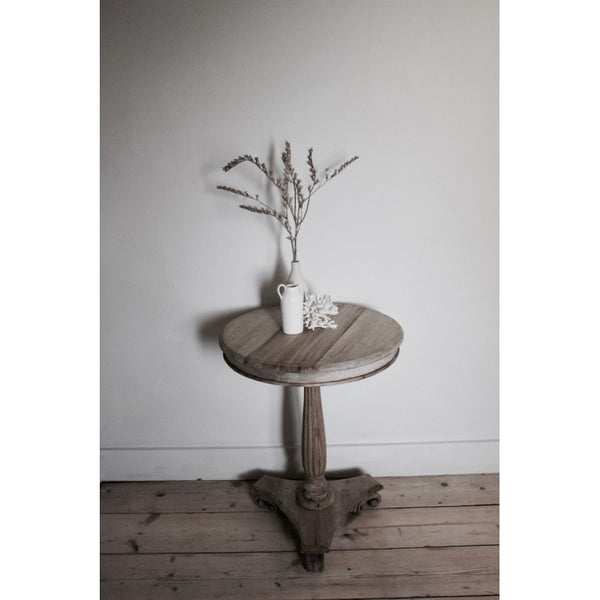 Tall Round Wine Table - Greige - Home & Garden - Chiswick, London W4